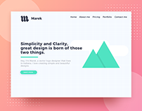 marek | UI/UX Mockup