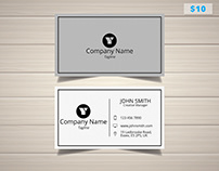 White Trendy Manager Business Card