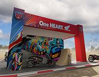 Honda One Heart booth