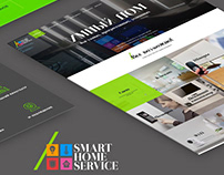 Responsive landing page Smart Home Service / website
