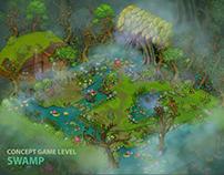 Swamp ( game level Wonder Way )