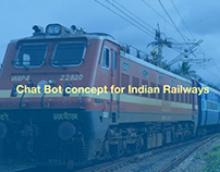 Chat bot concept for Indian Railway