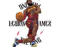 Adobe DRAW : NBA series - Lebron James