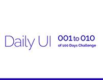 Daily UI: #001 - #010