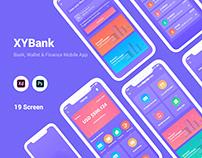Bank, Wallet & Finance Mobile App UI