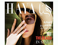 Haya Magazine Cover and Editorial