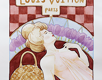 Louis Vuitton in Art Nouveau Style
