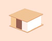 Corte de helado trisabor