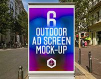 Outdoor Advertising Screen Mock-Ups 14 (v.1)