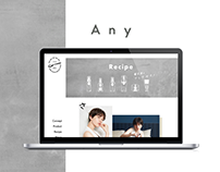 Any | Landing page, Branding page | ヘアアイテムエニーブランディングページ