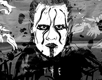 WWE Poster design & illustration, Sting.