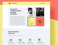 CAT Entertainments website UI/UX design by Tecort