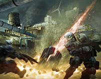 Crysis 2 Level Art - Skyline