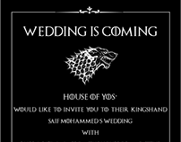 Game of Thrones wedding invite :)