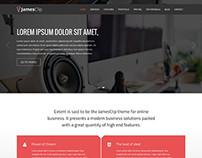 JamesClip – Parallax One Page WordPress Theme