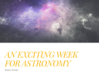 Robert Vowler | Exciting Week For Astronomy