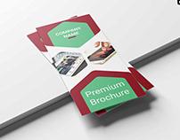 Free Gold Mine Tri-Fold Business PSD Template