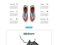 Shoe website homepage