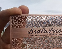 Etched and Custom shape Metal Business Card