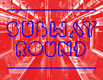Subway round font