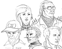 Heads sketches