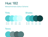 Monochromatic colour scheme