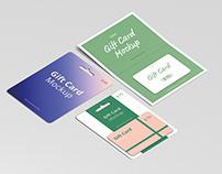 Gift Card Mockup Bundle