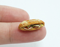 Miniature clay food : Banh Mi Vietnam