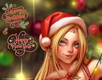 Rosa Farrell Final Fantasy Saga Christmas Commission