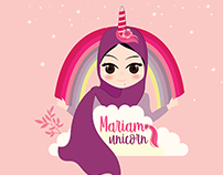 Unicorn Girl-Character Illustration