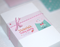 Victoria Babyshower Stationary