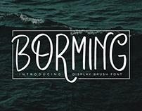 Borming Typeface