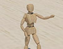 Boneco Articulado - Modelagem 3D