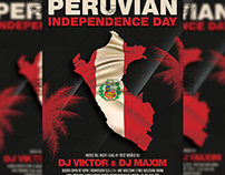 Peruvian Independence Day Flyer - Club A5 Template