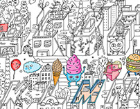 BIG COLORING POSTER 'ALPHABET CITY'
