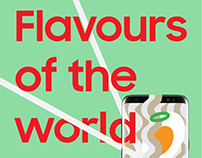 "SAMSUNG //Ilustration ""Flavours of the World"""