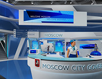 Concept stand Moscow city goverment