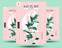 Free Green Flyer Design Template