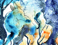 watercolors [I saw a Fox there]