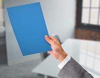 Paper in Hand Mock-Ups