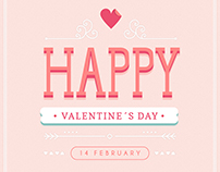 Valentine's day lettering - Designed for Freepik