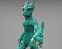 3D Monster Blue
