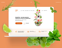 Healthy delivery service web design