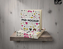 Free Square Hard Book Cover Mockup