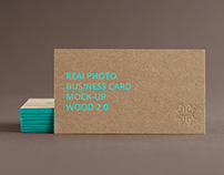 Branding / Identity / Business Card Mock-Up Wood 2.0