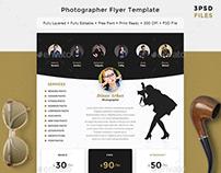 Photographer Flyer Template