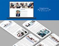 Stéphanie Fenot - Web design