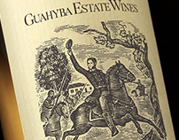 Guahyba Estates Wines Label illustrated by Steven Noble