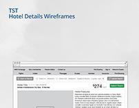 TST Hotel Details Wireframes
