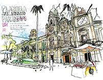 Libreta de dibujos Timebag y Urban Sketchers Medellín